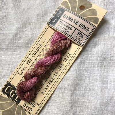 "Hilo para bordar Cottage Garden Threads ""Damask Rose"" 10 m."