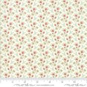 Tela Porcelain Little Blue&Red Flowers de 3 Sisters para Moda Fabrics
