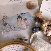 "Kit de Bordado ""Beside the Sea"", por The Stitchery"