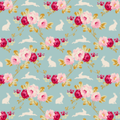 Tilda Rabbit & Roses Teal