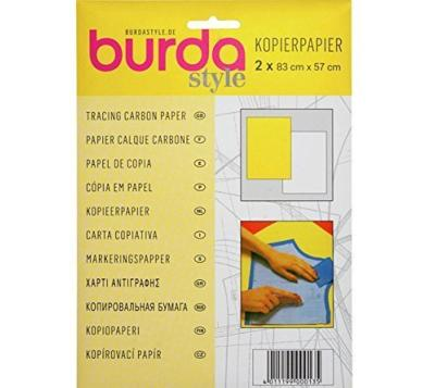 Papel de Calco para Tela Burda - Color Blanco Amarillo