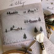 "Kit de Bordado ""A Cabin in the Snow"", por The Stitchery"